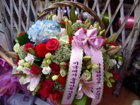 수국장미꽃바구니24