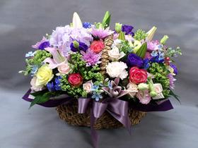 장미계절고급꽃바구니윙크