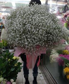 대형꽃다발 안개꽃